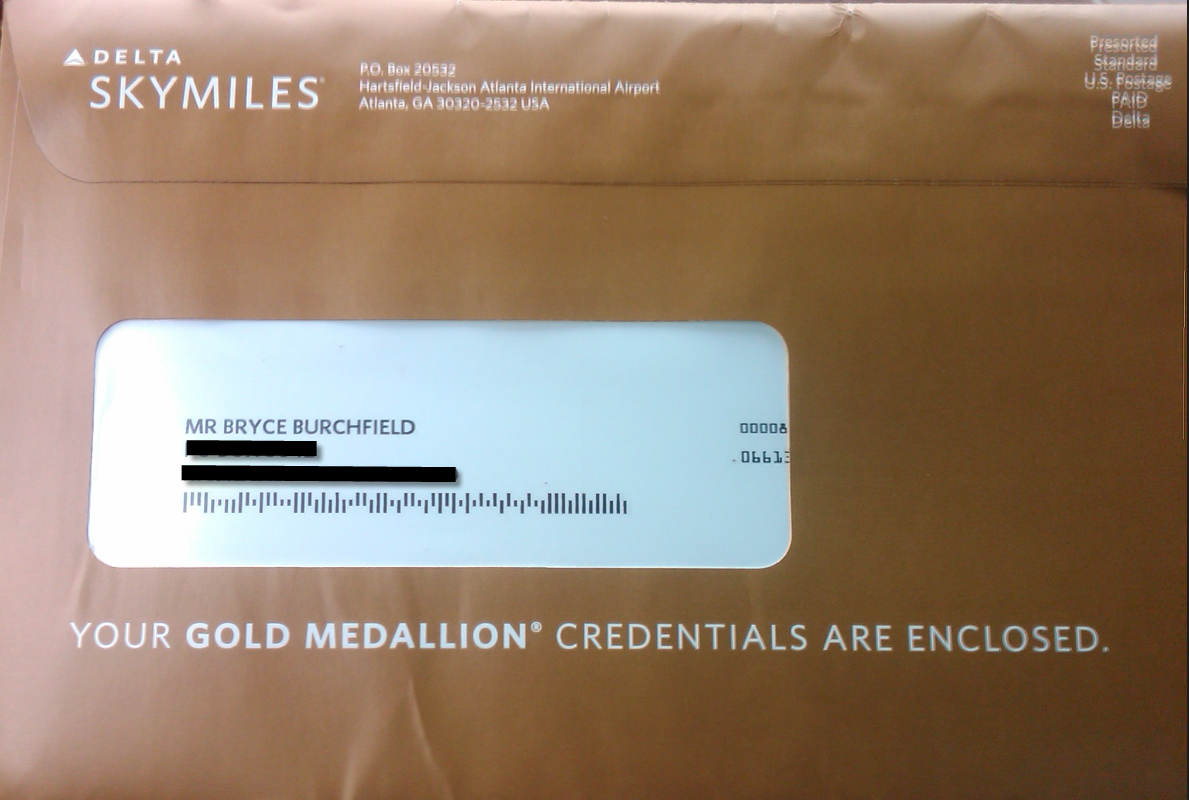 Arrival Of My Delta Medallion Credentials Point Me To The Miles