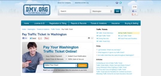 The State of Washington Allows You to Pay Traffic Tickets Online
